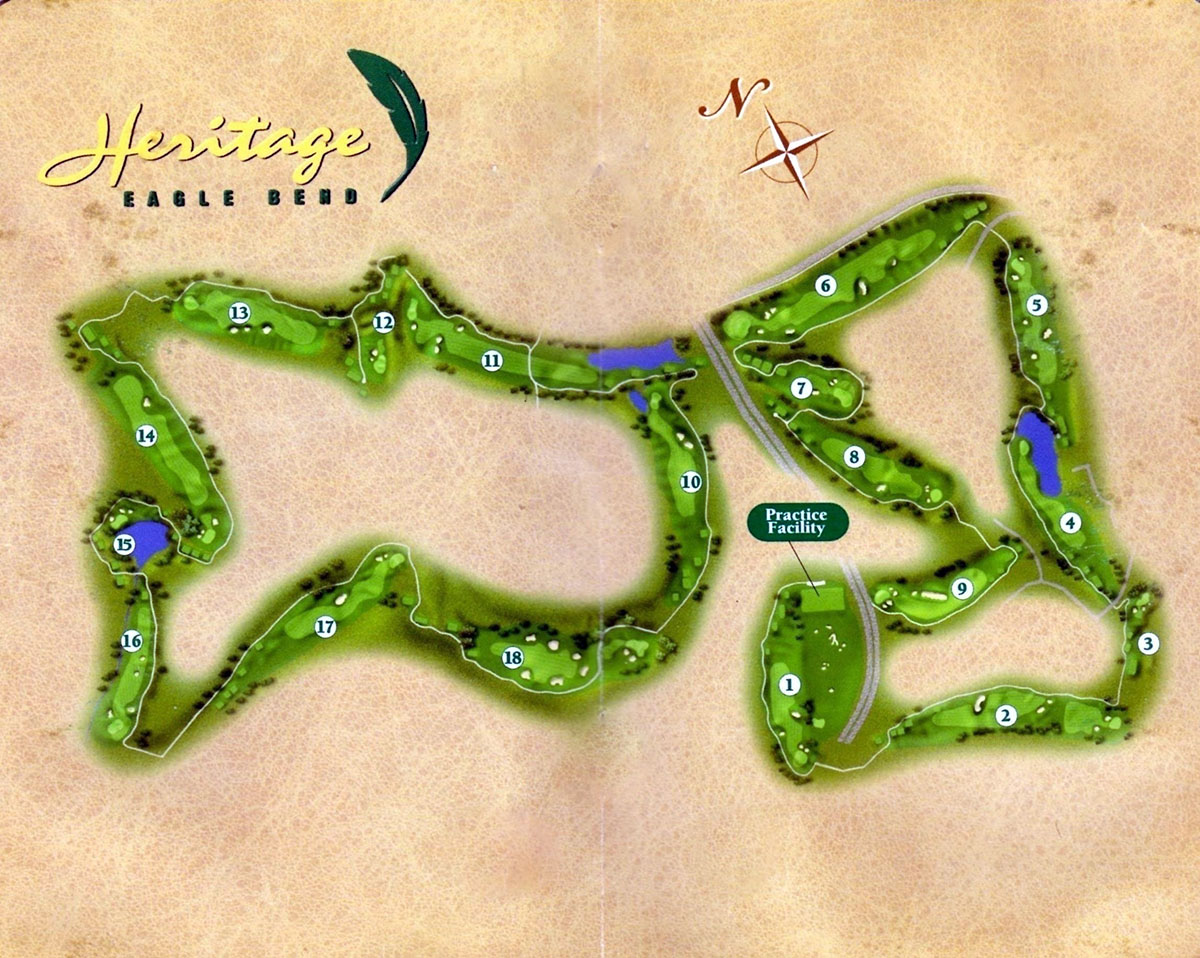 Heritage Eagle Bend Golf Club map
